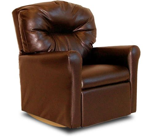kids brown leather recliner kids faux leather contemporary rocker recliner with tufted