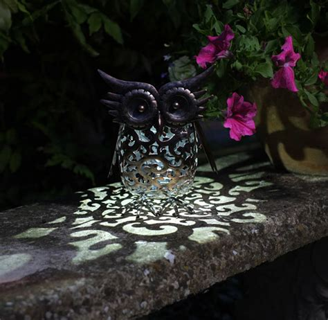 Owl Patio Lights Filigree Owl Solar Garden Light By Garden Selections Notonthehighstreet