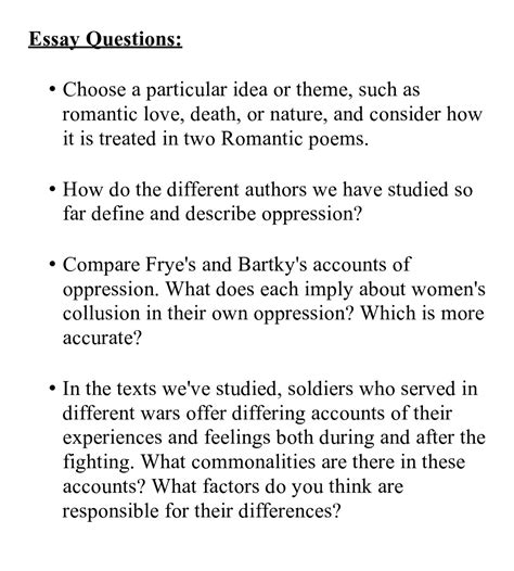 Essay Question Exles by Help With Writing Essay Questions Types And Exles
