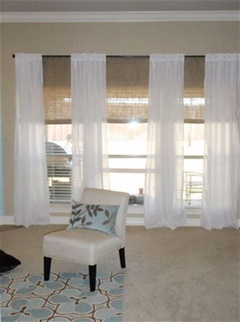 living room blinds and curtains 17 best ideas about large window curtains on pinterest