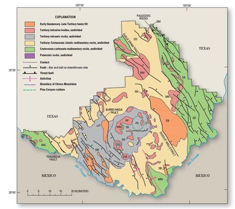 big bend park map big bend geologic map