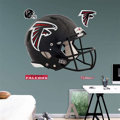atlanta falcons home decor atlanta falcons helmet wall decal shop fathead 174 for