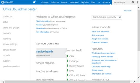 Office 365 Portal The Upgrade To The Microsoft Portal For Office 365