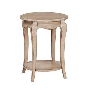 21 inch ambierle round side table bare wood fine wood