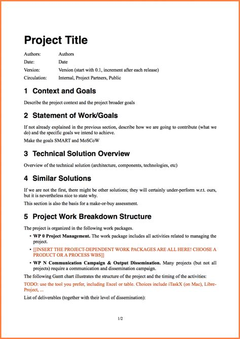 8 software project proposal template project proposal