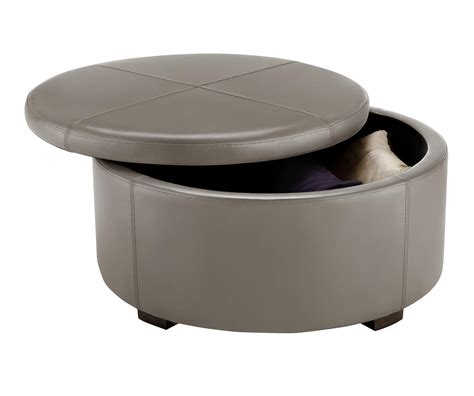 Small Round Ottoman Homesfeed Circle Ottoman With Storage
