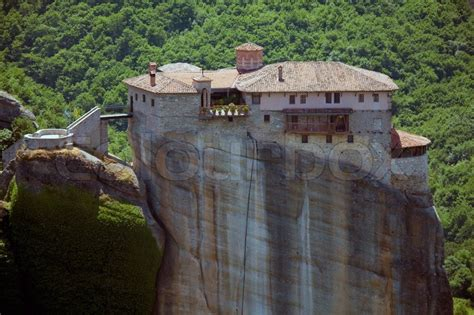 Mediterranean Home Plans With Photos by Roussanou Monastery Meteora Thessaly Greece Stock