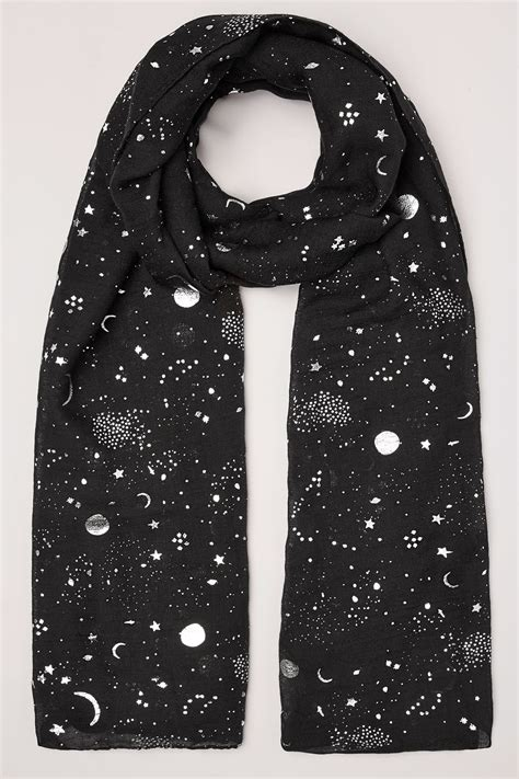 Can You Shop Online With A Visa Gift Card - black silver moon star foil print scarf