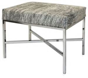 Modern Bedroom Bench Modern Cowhide Bench Contemporary Bedroom Benches By
