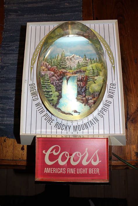 vintage coors light up sign vintage coors beer waterfall motion bar light sign 3d