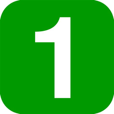 numbers clipart number in green rounded square clip at clker