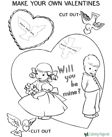 coloring page net valentine make your valentine 180 s day coloring pages