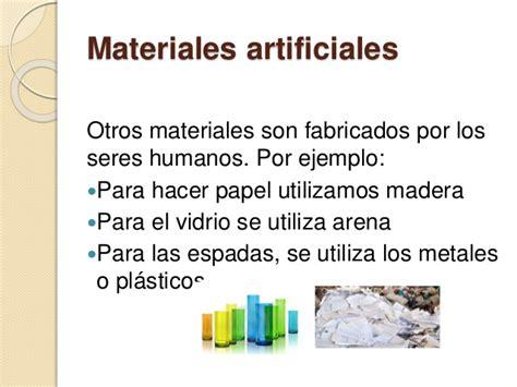 imagenes de materiales naturales y artificiales los materiales