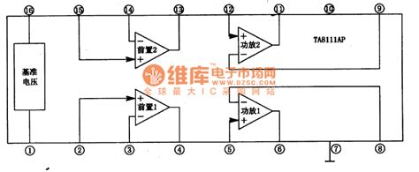 nutshell about monolithic integrated circuit ta8111ap monolithic stereo playback integrated circuit basic circuit circuit diagram