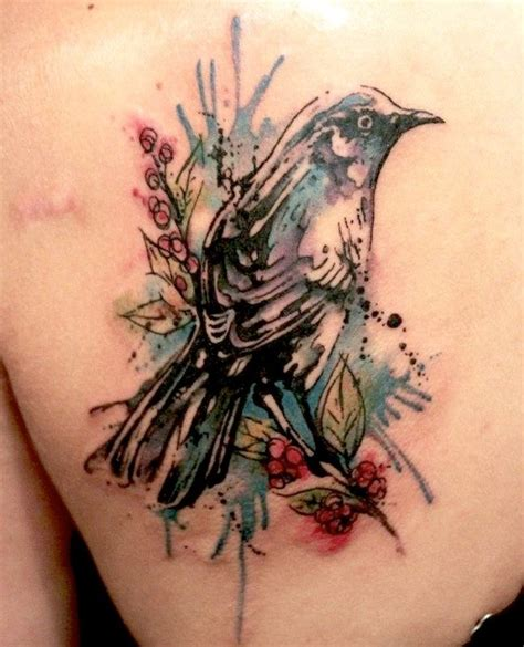 colorful bird tattoo designs on watercolor tattoos abstract watercolor and