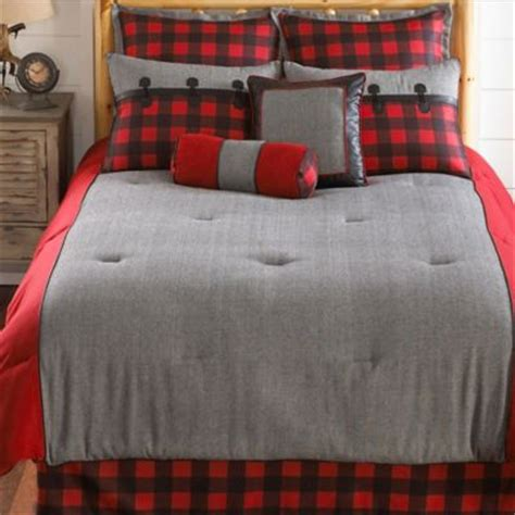 red black and grey bedding larissa plaid queen comforter set