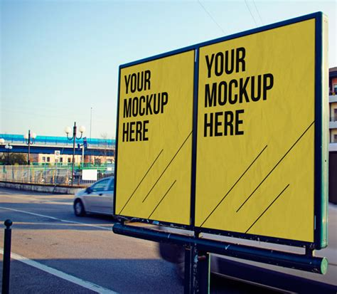 Free Up by 90 Free Outdoor Advertisment Branding Mockup Psd Files