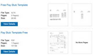 paycheck stubs templates free 6 free pay stub templates for and use