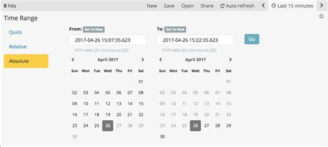 layout editor absolute setting the time filter kibana user guide 6 2 elastic