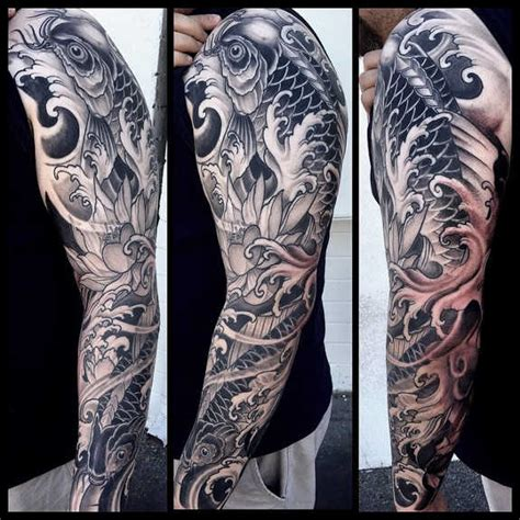 black and grey koi tattoo meaning 116 nice fish koi tattoos images with meaning