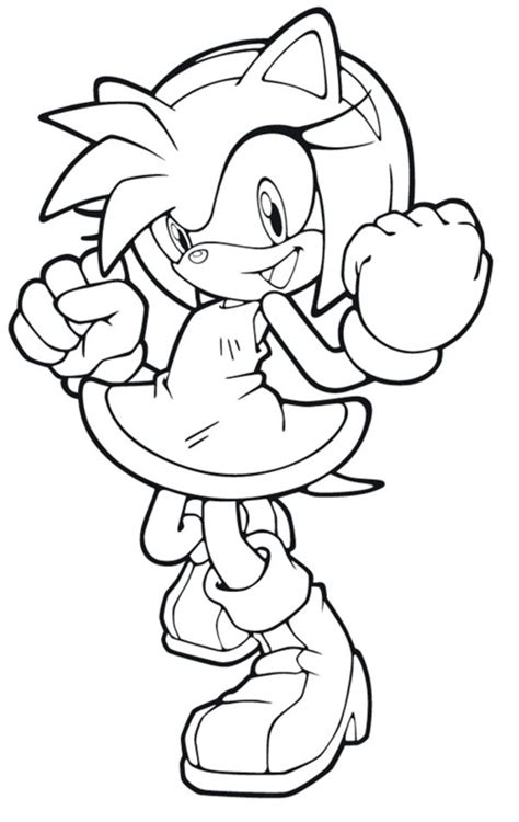 coloring pages of amy rose amy sonic boom pages coloring pages