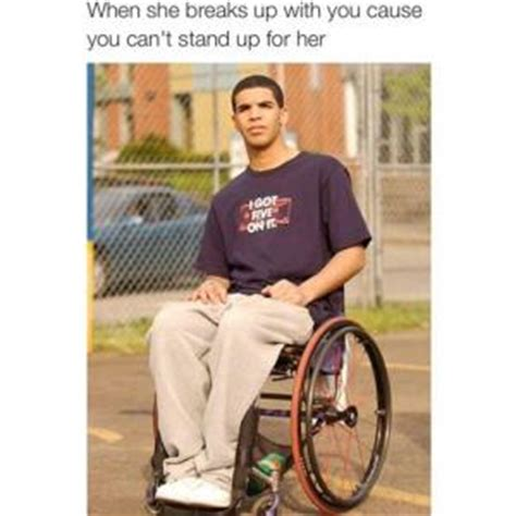Drake Wheelchair Meme - drake degrassi jokes kappit