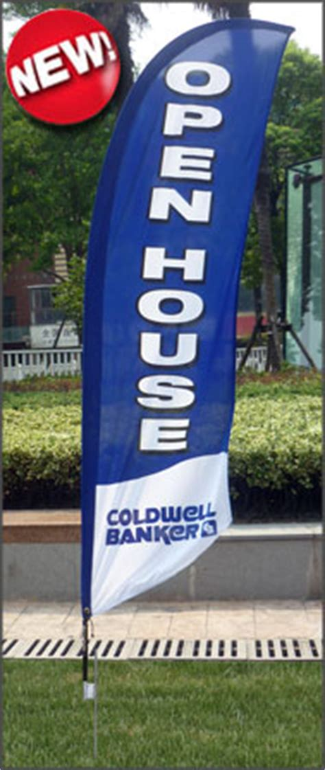open house flags coldwell banker real estate signs deesign