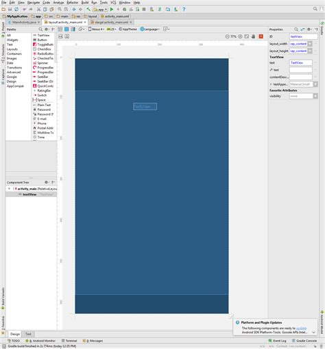 android studio missing layout user interface android studio ui elements missing