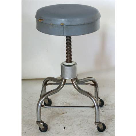 Gray Stools by 1 Vintage Pedigo Chrome Adjustable Gray Stool Ebay
