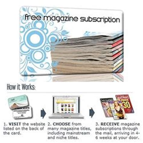 Magazine Subscription Gift Cards - gift cards magazine subscription product printable promotions
