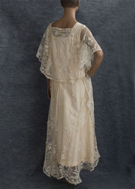 Vintage Wedding Dresses 1920 Winter Vintage 1920 S Lace Wedding Dress