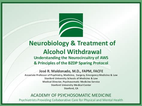 Doctor Of Medicine For And Alchol Detox by Neurobiology And Treatment Of Withdrawal