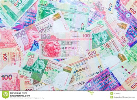 currency hkd hong kong dollar currency stock photo image 55366933
