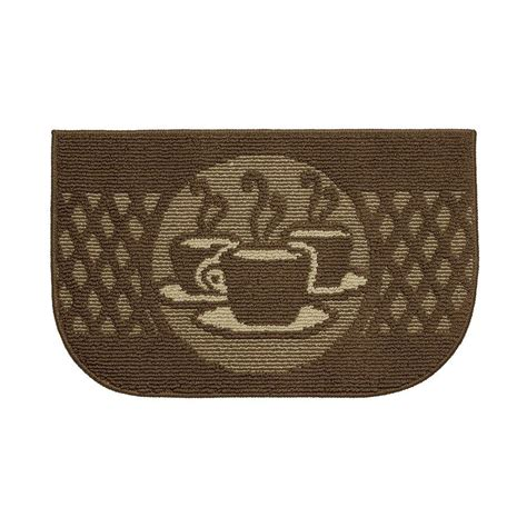 Mohawk Kitchen Rugs Mohawk Home Caffe Latte Primary 20 In X 45 In Accent Kitchen Rug 250607 The Home Depot