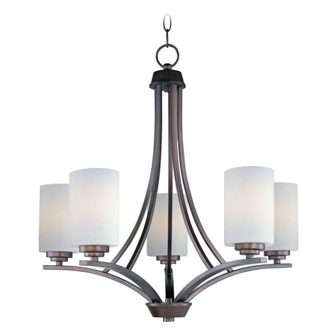Modern Bronze Chandelier Modern Chandelier With White Glass In Rubbed Bronze Finish 20035swoi Destination Lighting