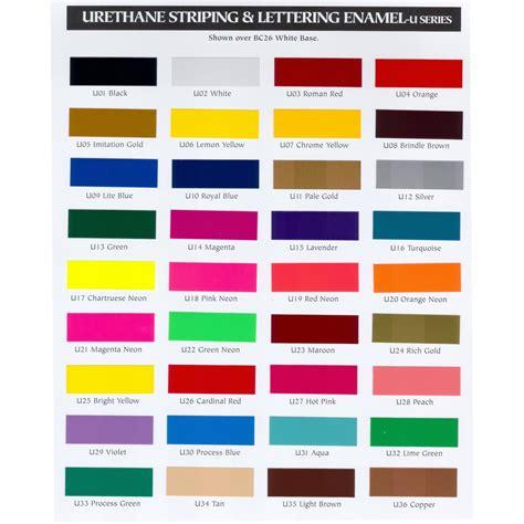 automotive paint color chart interior paint color chart