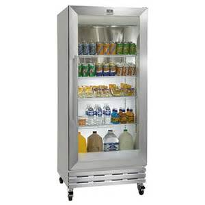 refrigerator with glass front door kelvinator commercial kgm220rhy reach in refrigerator
