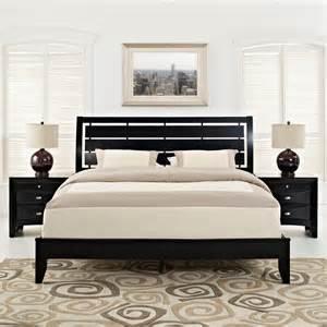 black bedroom furniture sets queen olivia 3 piece queen bedroom set in black mod 5097