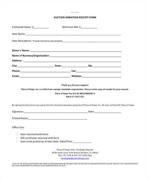 auction receipt template 35 receipt forms