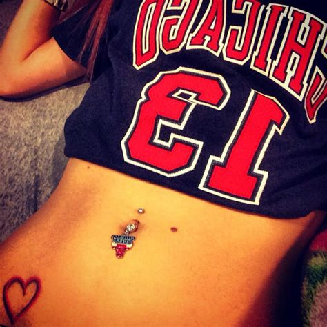 chicago bulls tattoos chicago bulls belly ring