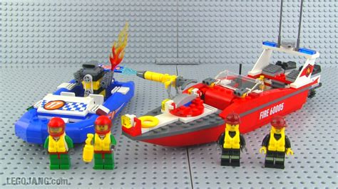 how to build a lego boat video lego city fire boat 60005 build review