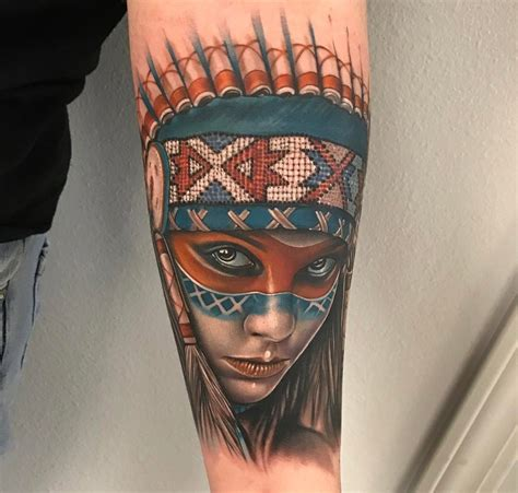 native american tattoo american portrait best design ideas