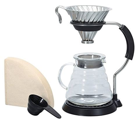 Hario V60 Permanent Cafeor Dripper Black 02 Cfod 02b Size 2 Cups hario vas 8006 hsv v60 arm stand with metal dripper set coffee machines all for coffee tea