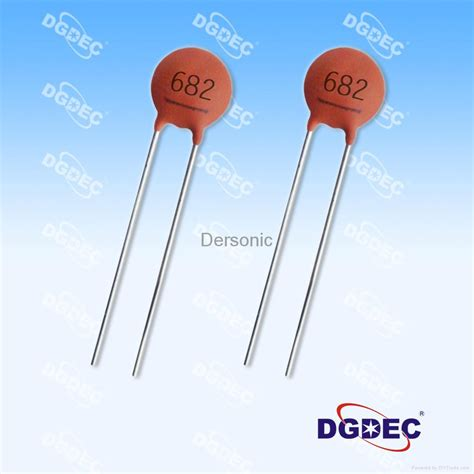 multilayer capacitor axial type radial leads multilayer ceramic capacitors cc y5v682m20kv dersonic china manufacturer