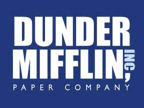 quot dunder mifflin the office logo quot photographic prints by