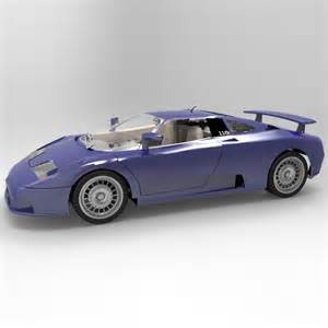 bugatti eb 110 3d model max cgtrader