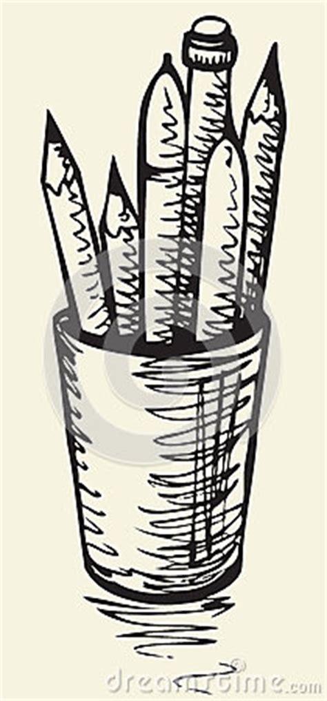 schizzo di vettore tazza con le matite illustrazione di