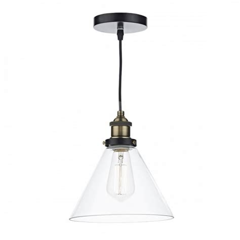 single pendant ceiling lights vintage antique brass ceiling pendant with clear tapered