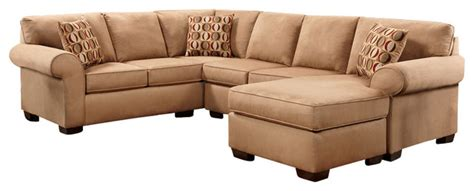 Microfiber U Shaped Sectional Patriot Chocolate Microfiber U Shaped Sectional Traditional Sectional Sofas By Lified E