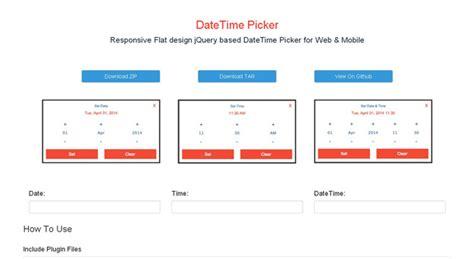 Date Duration Calendar 25 Best Jquery Date Time Picker Plugins Jqueryhouse